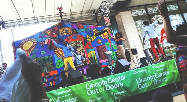 Kuenta i Tambu performing at Lincoln Center Summer Stage 2012.