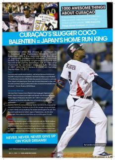 #661. Curaçao's Slugger Coco Balentien = Japan's Babe Ruth featured in Go Weekly magazine.