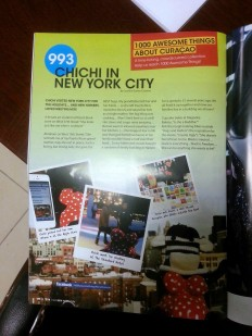 """Chichi in New York City"" featured in GO Weekly's 50th Edition."