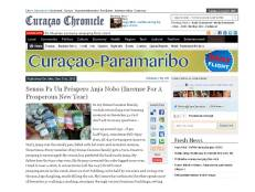 #809 New Year's Sensia featured in 'Curacao Chronicle' on Dec 31, 2012.