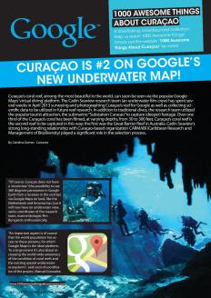 #678. Curaçao is #2 on Google's New Underwater Map! featured in Go Weekly magazine.
