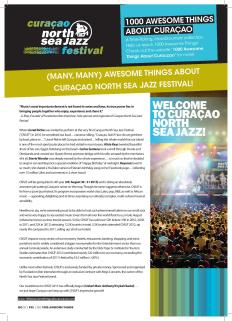 #800. (Many, many) Awesome Things About Curaçao North Sea Jazz Festival! in Go Weekly.
