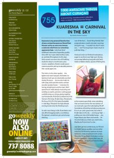 #755. Kuaresma (Lent) = Carnival in the Sky featured in Go Weekly's 9th edition of 2013.