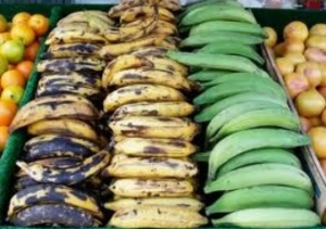 Locate the ripest plantains you can find. The darker the skin, the sweeter the taste!