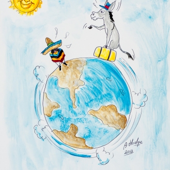 Even if the donkey circles the world 3 times; he'll still be a donkey.