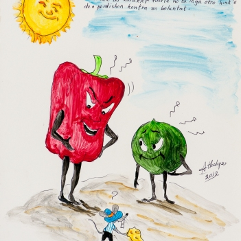 The lime can't ruin the red pepper.