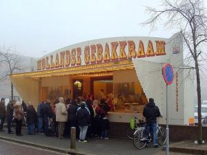 Oliebollen kraampjes in the Netherlands.