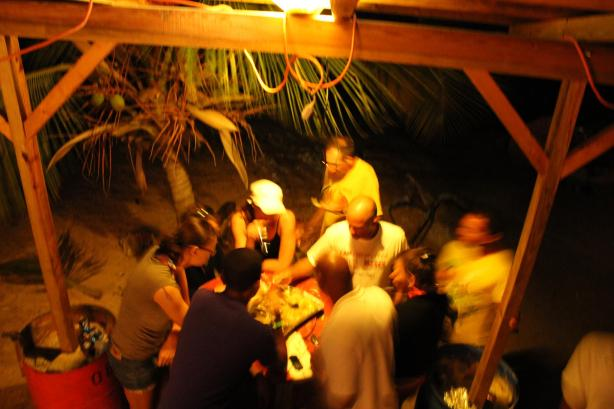 Thursday night Lion Fish BBQ.