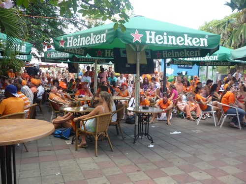 Plein Cafe Wilhelmina during World Cup