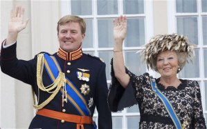 Prince Willem Alexander and Queen Beatrix.