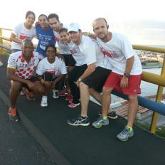 Team on Bridge