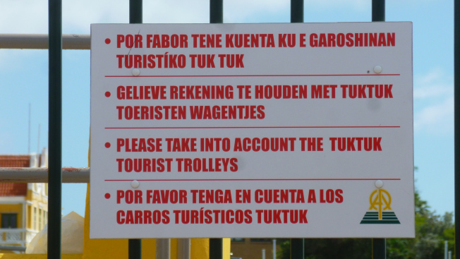In case tourists dont speak english