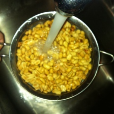 If you can't find unsalted peanuts, simply wash off the salt...