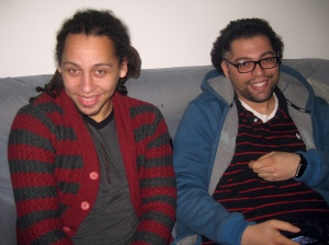 Juan-Carlos and Clifford Goilo all bundled up in Amsterdam.