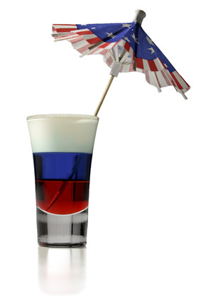 American Shot Isolated on White