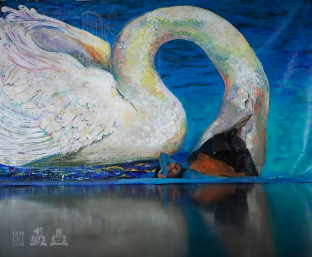 """Infected Swan"" by Francis Sling (c)."