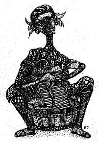 """""""Labadera"""" (Wash Lady) by Elis Juliana (1972)."""