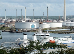 Former Shell oil refinery, now Isla.