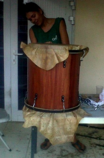 #893. Tatiana Saturnino-Felix (first female percussion instrument maker in the Caribbean) is Portuguese - West African - Dutch.