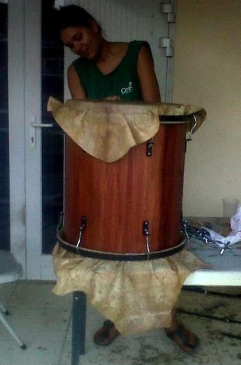 #893. Tatiana Saturnino-Felix (first female percussion instrument maker in the Caribbean) is Portuguese - West African - Dutch.