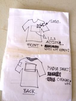 Crew t-shirt in the making