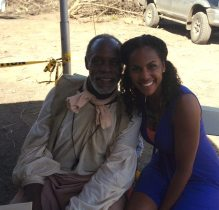 Lysa with Danny Glover at Landhouse San Juan.
