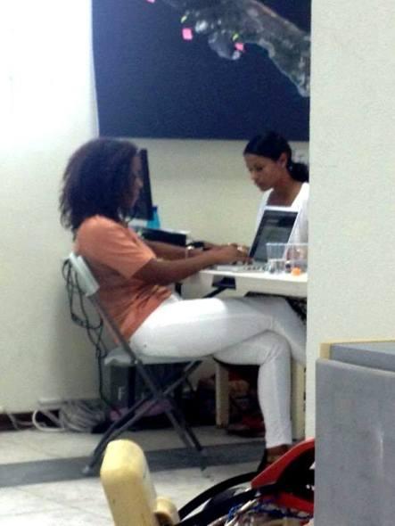 Lysa, hard at work
