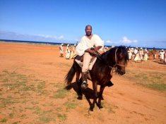 Earnie Schoop, the horse wrangler.