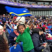Yeadiel de Caster (the son of Yurendell de Caster) waving our flag during the World Baseball Classic 2013.