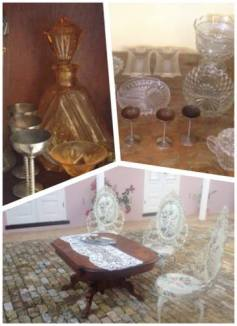 Collected pieces from friends, aunts, grandma and mom's living room to complete set decors