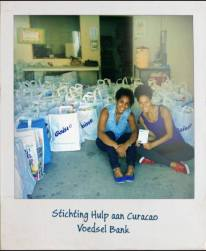 Lysa and Deva-Dee volunteering.