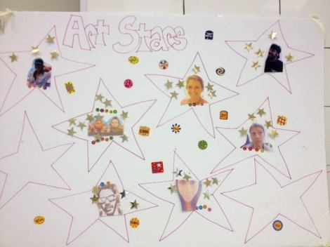 Work hard to collect your Art Department Stars