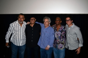 (L-R): Percy Pinedo, Pablo Croce, Gregory Elias, Sergio George and Jorge Lozada. Photo by Farley Lourens.
