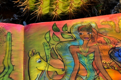 "Valerie's newest illustration: ""The girl from Curaçao"""