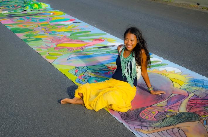 Source: http://valerieparisius.com/blog/2013/7/21/curacaos-worlds-longest-painting.