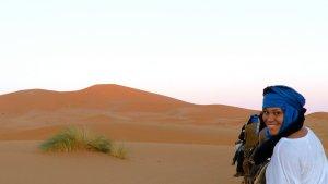 Deva in the Sahara desert.