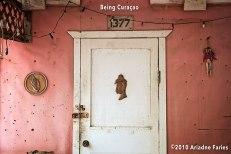 """""""1377"""", a typical Curaçao doorpost."""