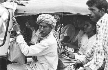 No capacity limit rickshaw in Chennai, India. Photo by Lysa De Windt.