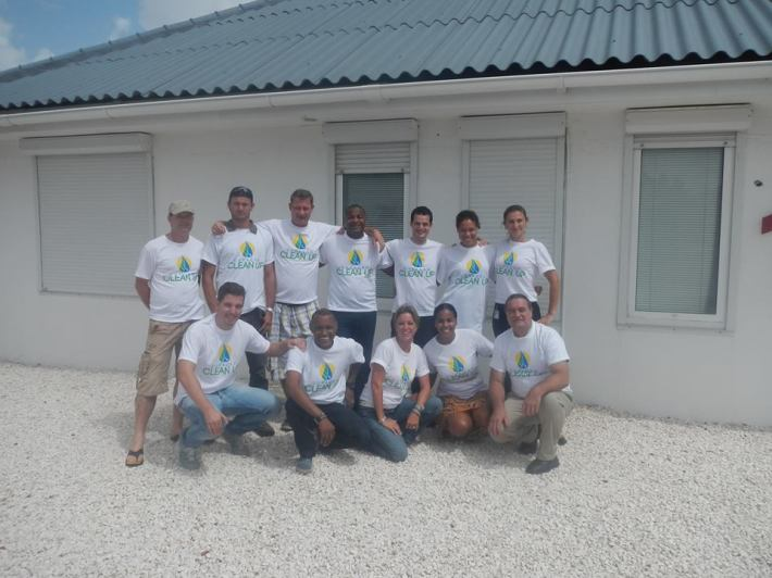 The Curacao Clean Up Dream Team.
