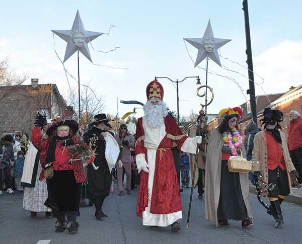 Sinterklaas and his 'grumpuses' arrive in Rhinebeck, NY. See: www.sinterklaasrhinebeck.com.