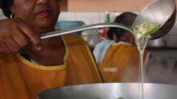 Guiambo (Okra soup) in the making.