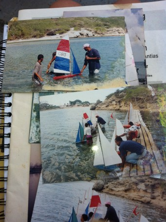 Sami Sail in Curacao, way back (photos from Ibi's scrapbook archives)