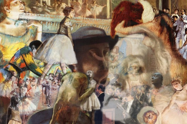 "Giovani's take on Degas. Excerpt from the article: Giovani's gorgeous, hugely compelling and richly-layered digital series entitled ""Masters At Work"" is an inviting, eye-opening homage to the work of some of the world's greatest artists – that succeeds in bridging the ""digital divide"" between young and old, acting like a ""portal"" to a previously contained and often inaccessible world."