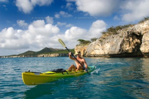 Ryan de Jongh kayaking in Santa Cruz.