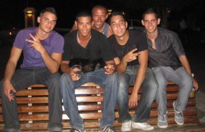 From L - R childhood friends Warren Koch, Clayton Tjon, Alejandro Kelly, Walid Samandar.