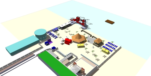 Walid's Site Plan for Amnesia Beach Festival 2013.