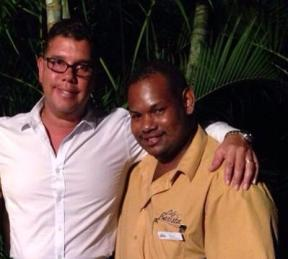 Cedric and one of his employees, Chris van Aanholt. Chris writes: